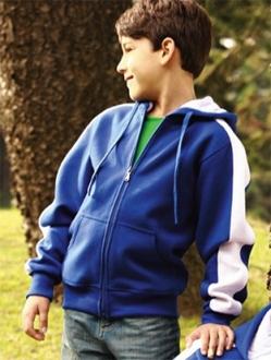 CJ1222 Contrast Fleece Kids