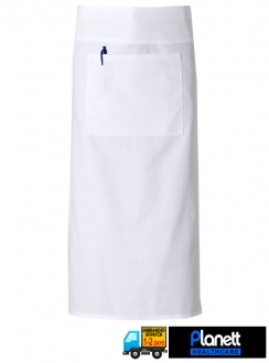 CONTINENTAL APRON WITH FOLD OVER AND POCKET