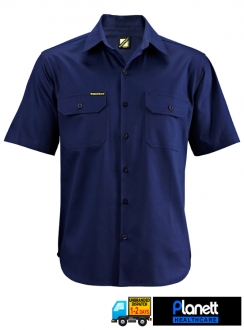 COTTON DRILL SHORT SLEEVE SHIRT