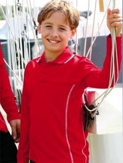CP0922 Stitch Essential Kids Polo LS
