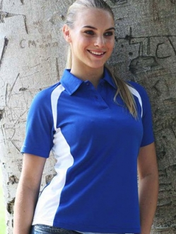 CP0929 Contrast Panel Polo SS Ladies