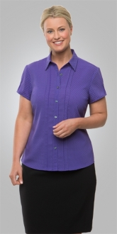 2173CC1 City Stretch Spot Shirt Cap Sleeve