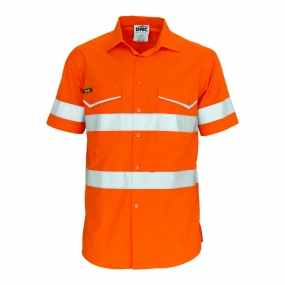 DNC 3589 HiVis Ripstop Shirt With Reflective Tape SS
