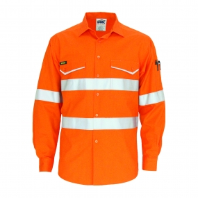 DNC 3590 HiVis Ripstop Shirt with Reflective Tape LS