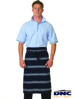 DNC Blue White Stripe 3qtr Apron