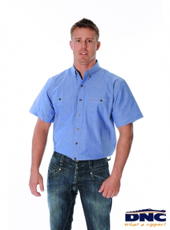 4101 DNC Cotton Chambray S/S Shirt