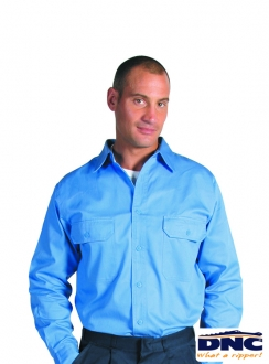 3209 DNC Cotton Drill Work Shirt with Long Gusset Sleeve