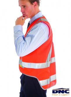 3802 DNC Cross Back Safety Vest with Tail