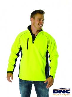 DNC HiVis Half Zip Soft Shell Contrast Jacket