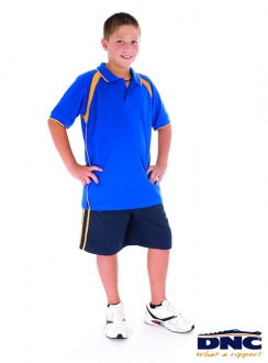 DNC Kids Contrast Raglan Panel Polo