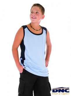 DNC Kids Cool-Breathe Contrast Singlet