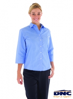 DNC Ladies Chambray 3qtr Sleeve Shirt