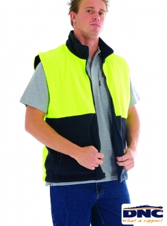 3826 DNC Polar Fleece Reversible Vest