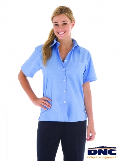 DNC Polyester Cotton Ladies Chambray S/S Shirt