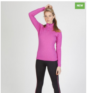 F389LD Heather Half-Zip Ladies