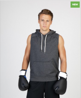 F660PS Heather Sleeveless Hoodie Mens