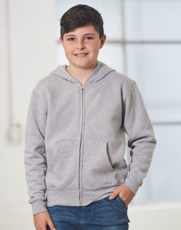 FL03K Kids Double Bay Full Zip Hoodie