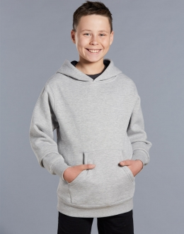 FL09K Kids unisex close front Fleecy Hoodie