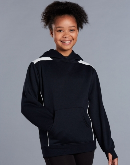FL19K Kids close Front Contrast Fleece Hoodie