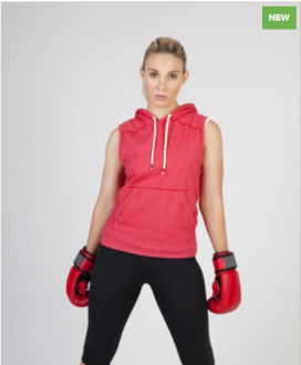 FP66UN Heather sleeveless Hoodie Ladies/Junior