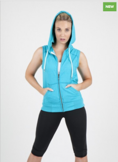 FZ77UN Zip Sleeveless Hoodie Ladies/Junior