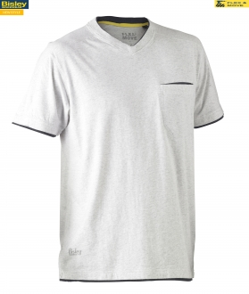 Flex & Move™ BK1933 Cotton Rich V Neck Short Sleeve Tee