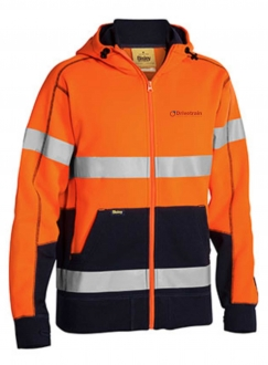 HIVIS full zip fleecy Hoodie with tape