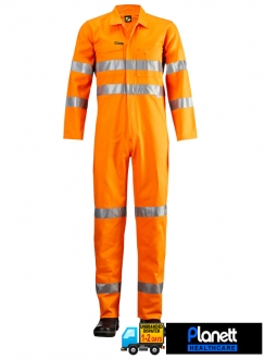 Hi-Vis Coveralls With 3M 9920 Reflective Tape