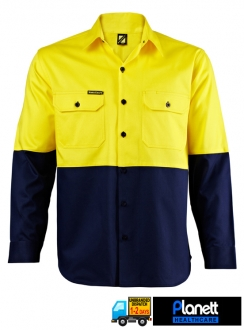 HI VIS TWO TONE LONG SLEEVE SHIRT
