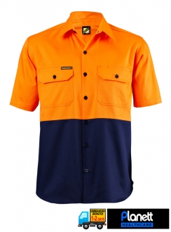 HI VIS TWO TONE SHORT SLEEVE SHIRT
