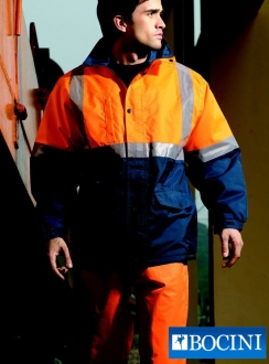 HiVis Polar Fleece LINED Jacket with Tape