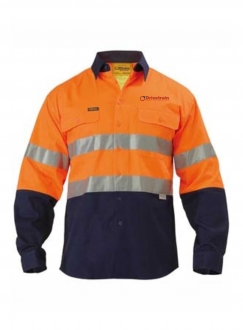 Hi Vis Drill Shirt LS With Tape