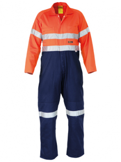 Hi Vis Overalls Heay Duty Drill With Tape