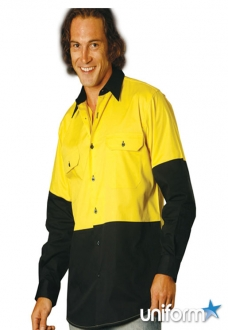 AIW HiVis Cool-Breeze L/S Cotton Work Shirt