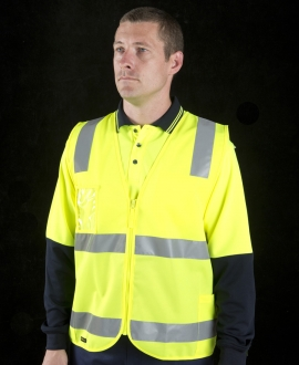 JB's Hi Vis (D+N) Zip Safety Vest