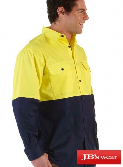 JBs Hi Vis Long Sleeve 150g Shirt