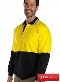 JBs Hi Vis Long Sleeve Cotton Polo