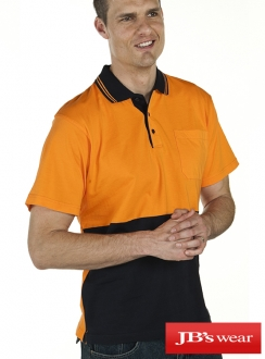 JBs Hi Vis Short Sleeve Cotton Polo