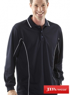 7PIPL JBs Podium Long Sleeve Piping Polo