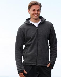 JK41 Mens Heather Bonded Coral Fleece Jacket