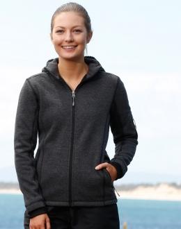JK42 Ladies Heather Bonded Coral Fleece Jacket