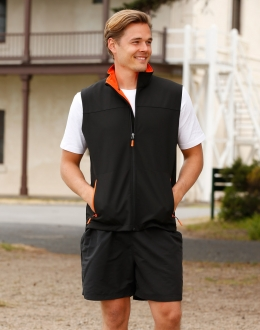JK45 Mens Softshell Sports Vest
