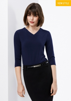 K819LT Lana Ladies 3/4 Sleeve Top