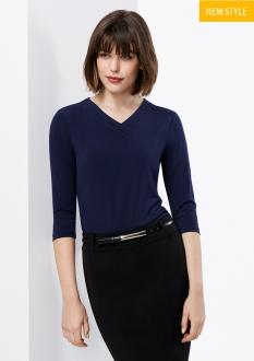K819LT Lana Ladies 3/4 Sleeve Top