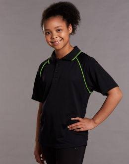 Kids Cooldry Raglan Polo