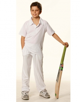 Kids TrueDry S/S Cricket Polo