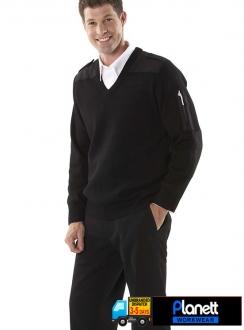 6EJ Knitted Epaulette Jumper