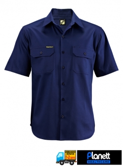 LIGHT WEIGHT COTTON DRILL SHORT SLEEVE SHIRT