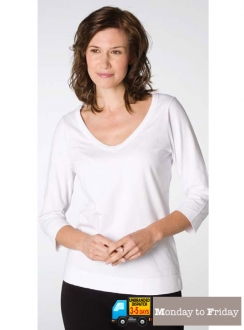 Ladies 3/4 Sleeve V-Neck Tee