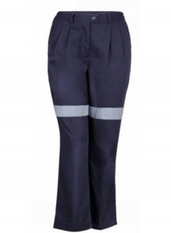 Ladies Cotton Drill Trousers with Tape